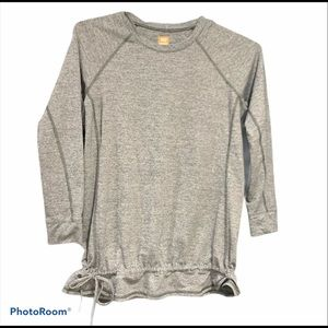LUCY Gray Side Tie GYM STAPLE 3/4 sleeve
